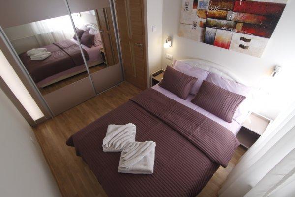 Bedroom window New Belgrade Apartment ORION