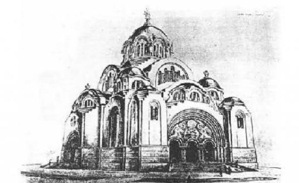 Idejna rešenja sa konkursa za Hram Svetog Save - Deroko 1926