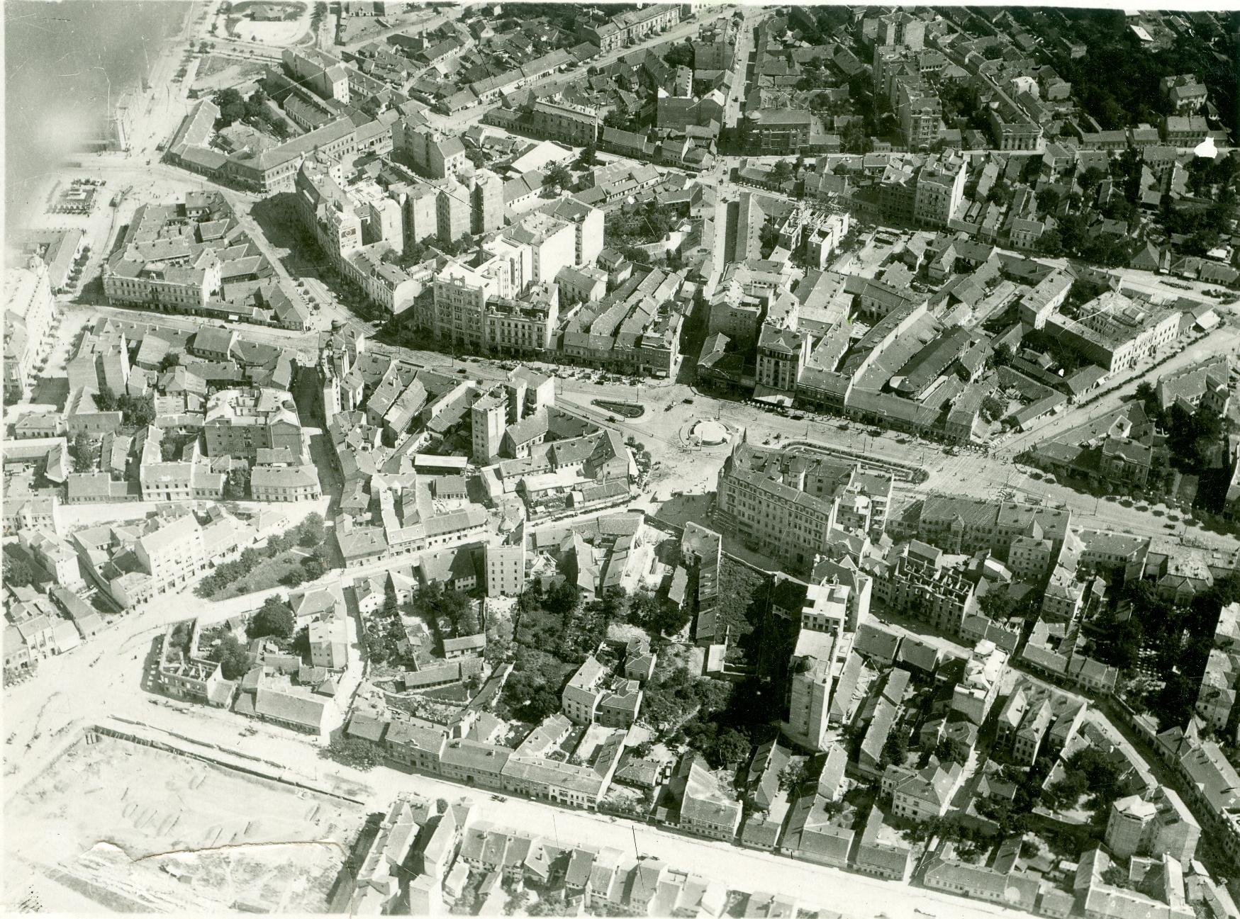 Fotografije starog Beograda - Terazije iz vazduha
