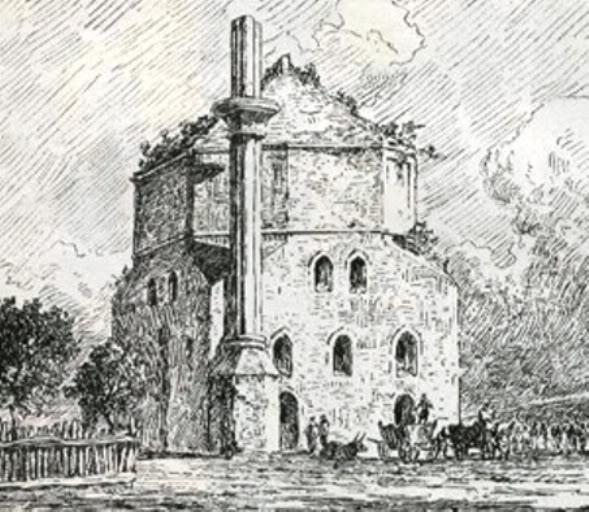 Feliks Kanic, Ilustracija Batal Džamije oko 1860