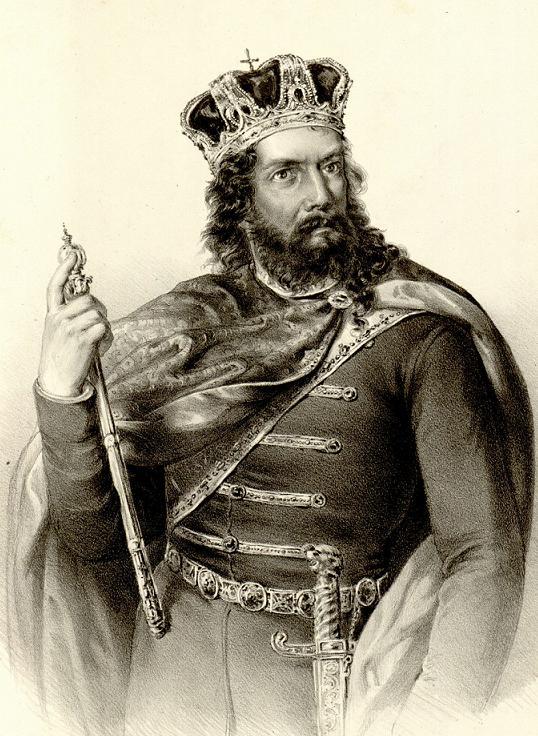 Stefan Nemanjić Prvovenčani litografija Anastas Jovanović