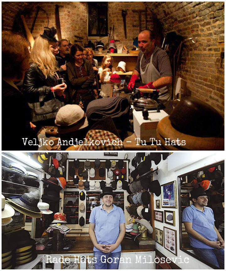 Sane Hatters...Veljko Andjelovic of TuTu and Rade Hats