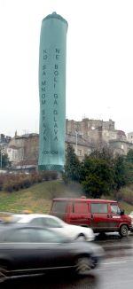 Giant Condom on teh Second Obelisk in 2010