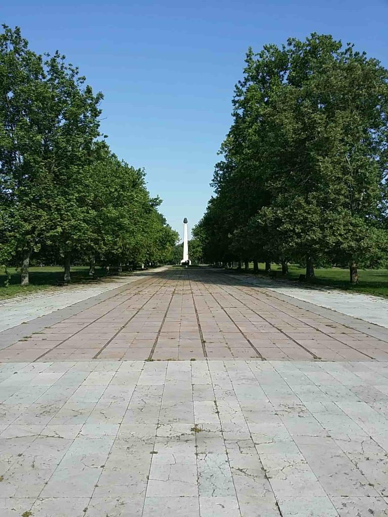 Peace Alley in Belgrade Park of Friendship