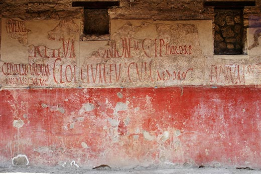 Grafit - politička parola u Pompeji
