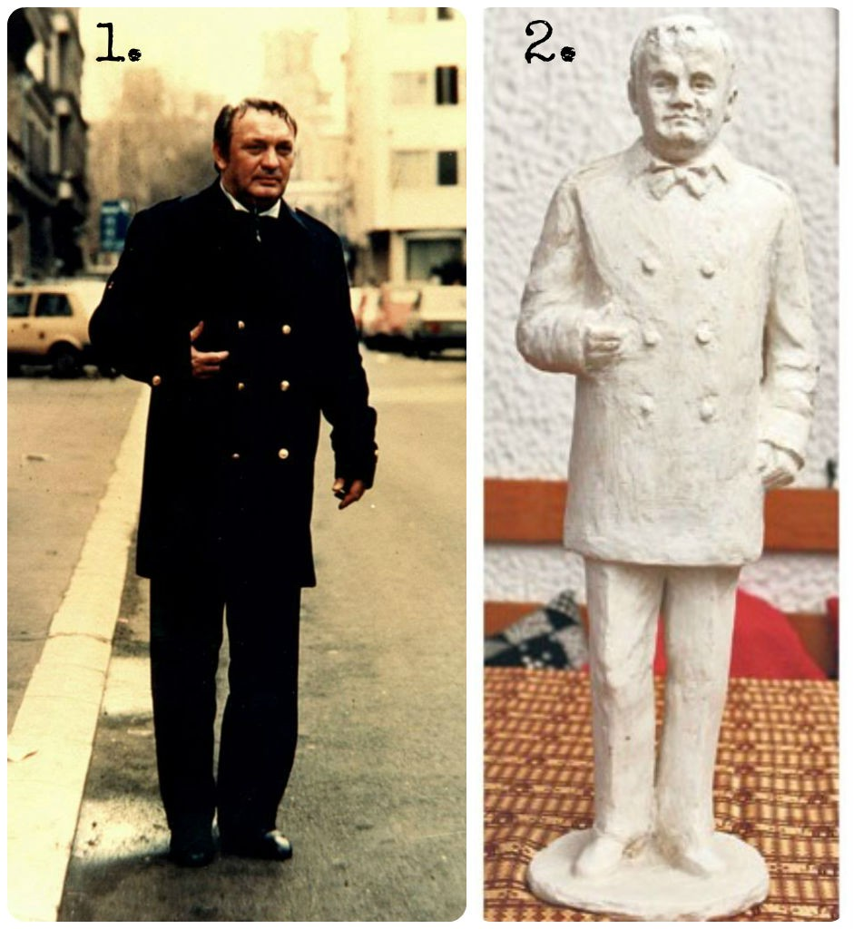 "1. Libero Marconi in 1986 2. A proposition for a monument- expressionism ""par excellance"""