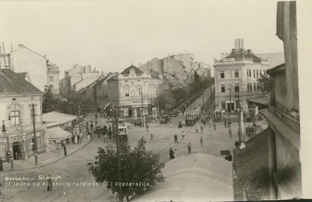 Trg Slavija u beogradu 1936