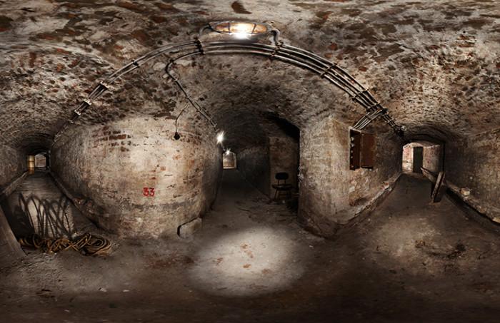 360 view of underground tunnels Tasmjadan, Belgrade