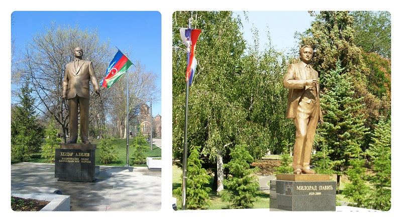 Postmodern contrasts? The monuments to Aliev and Pavich in Tashmajdan