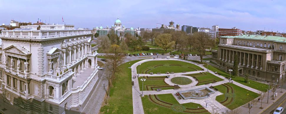 Pioneer's Park as seen from King Milan Street