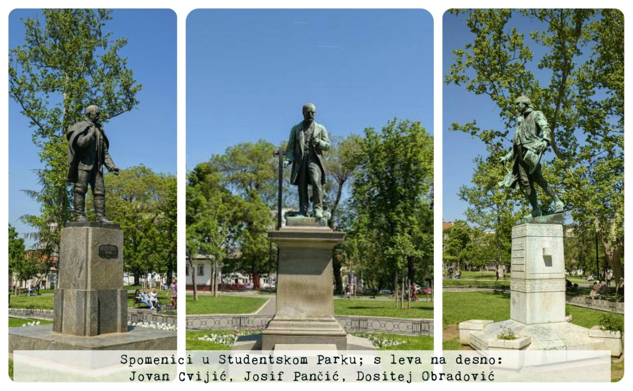 Spomenici Studentski Park Beograd