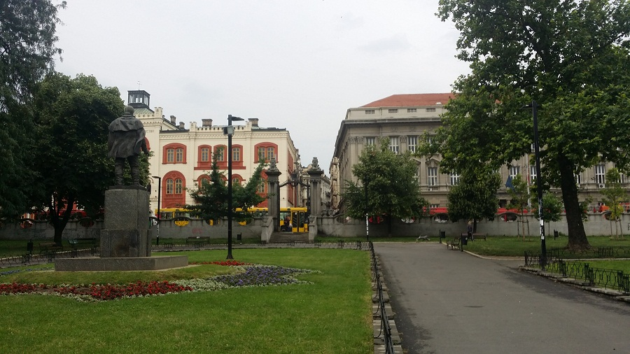Students PArk Belgrade view towards the Students square