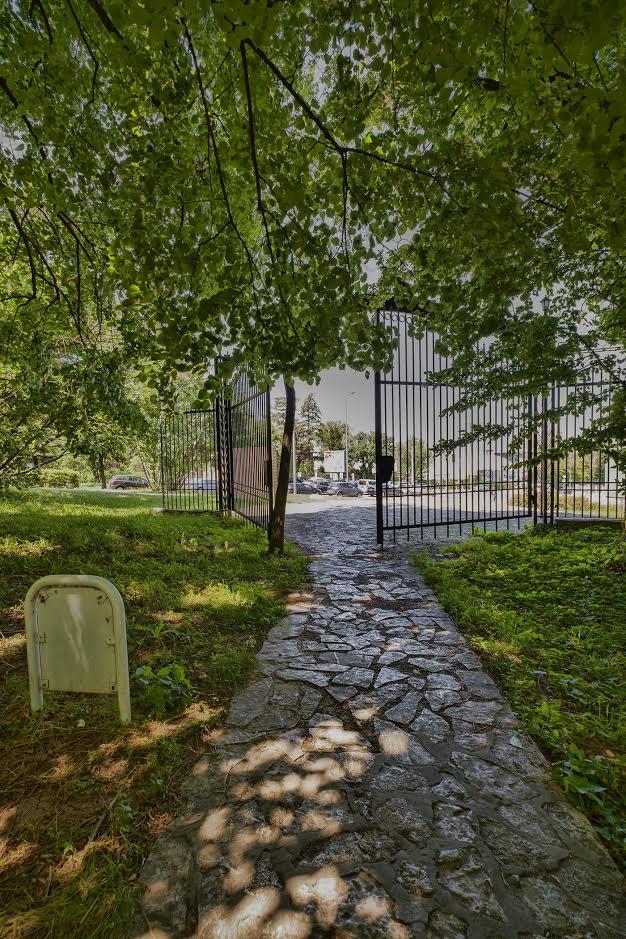 The gate of Hyde Park in Belgrade