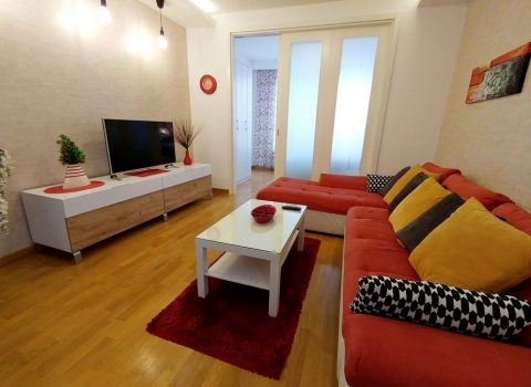 Sofa and TV stand living room, Apartment SKIPPER New Belgrade, Belville